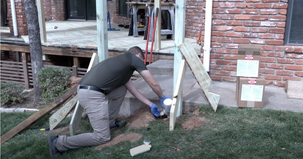 Installing Deck Posts with Secure Set Post Foam