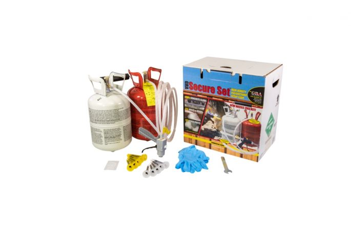 Secure Set Spray Foam Box Contents
