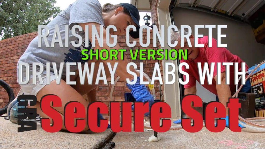 Secure Set Spray Foam Lifts Driveway