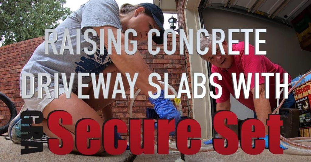 Raising Concrete Driveway Slabs with Secure Set
